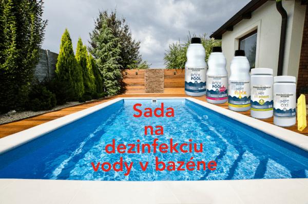 Sada na dezinfekciu vody v bazéne